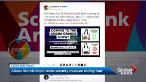 Fans asked to bring must bring clear bag for belongings for Ariana Grande concert