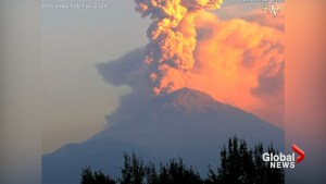 Mexico's Popocateptl volcano spews smoke and ash