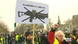 French 'yellow vests' march through Paris denouncing police violence