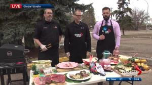 Cooking pork with BBQ champion
