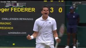Milos Raonic defeats Roger Federer, becomes first Canadian man to reach Wimbledon final