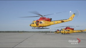 RCAF helicopter departs to battle Fort McMurray wildfire