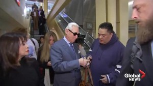 Roger Stone arrives at Washington, D.C. airport ahead of court appearance