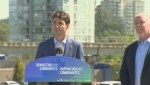 Trudeau in town for transit announcement