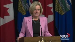 Alberta premier threatens to reduce oil shipments