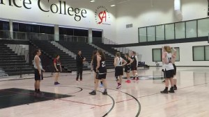 Kingston is hosting the OCAA womens basketball tournament
