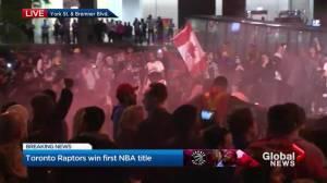 NBA Finals:  Raptors fan set off fireworks and flares on streets