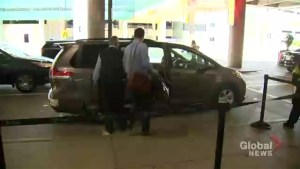 Toronto Pearson International Airport launches pilot project allowing ride-sharing services to pick up passengers