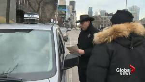 Taxi drivers confront Uber