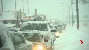 Motorists stranded overnight on Montreal highway