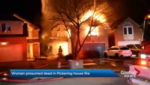 Woman presumed dead after early morning house fire in Pickering