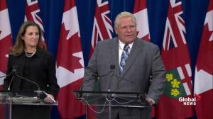 Doug Ford asks for federal funding to address opiate crisis