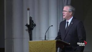 Jeb Bush delivers touching eulogy to his mother Barbara Bush