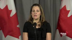 Canada receiving international support over Canadians detained in China: Freeland