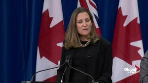 Canada is working in 'close consultation' with allies: Freeland