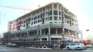 Raymond Block takes shape on Edmonton's Whyte Avenue