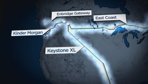 Northern Gateway pipeline: Map