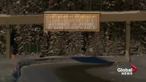 Work continues to open Trans-Canada Highway near Alberta/BC border after avalanche (01:37)