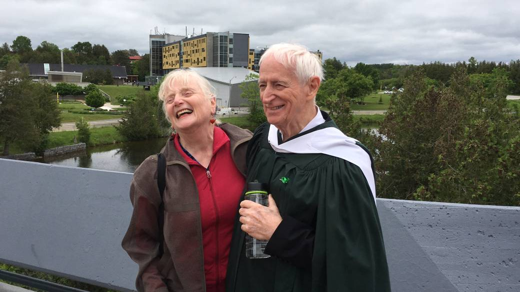 84-year-old man receives degree after 14 years at Trent University