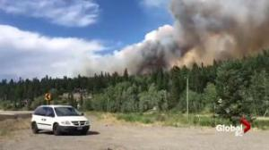 Wildfire burning close to Williams Lake Airport