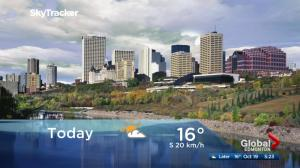 Edmonton early morning weather forecast: Thursday, October 19, 2017