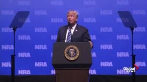 Trump discusses banning guns, jokes about banning vans and trucks in wake of Toronto van attack