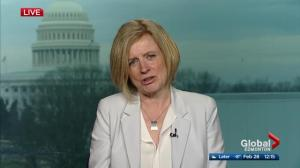 Premier Notley's message to Washington