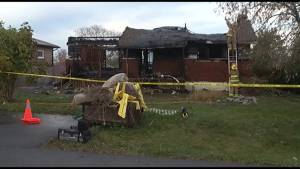 Officials continue to investigate an early morning explosion that destroyed a home in the village of Bath (01:57)