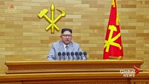 Kim Jong-Un warns U.S. that he has 'nuclear button' on his desk
