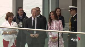 Prince William and Kate greet cheering fans in Vancouver