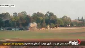 Missile hits Israeli bus traveling near Gaza border