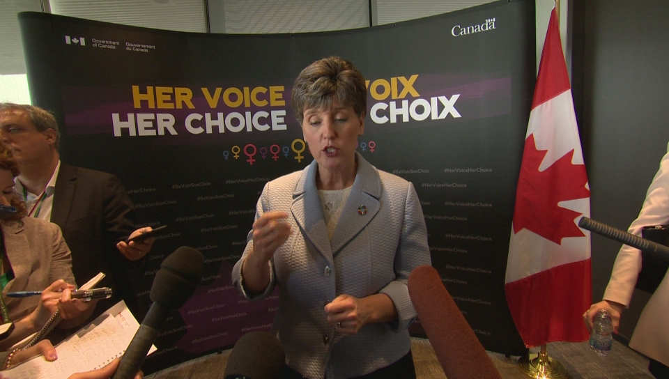 Click to play video 'Liberals unveil new 'feminist' foreign aid, but not much new money'