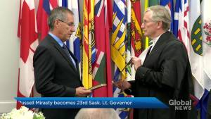 Russell Mirasty officially sworn in as 23rd Saskatchewan lieutenant-governor