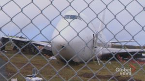 Cargo plane goes off runway at Halifax airport, 4 sent to hospital