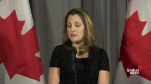 No 'direct connection' drawn between Meng Whanzou and Canadians detained in China: Freeland