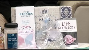 The Hope Box is for those women have lost an infant.