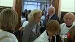 Protesters for and against Kavanaugh crowd offices of Senators Collins, Murkowski