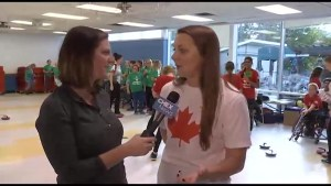 Two female Olympians attend YMCA event to inspire young women