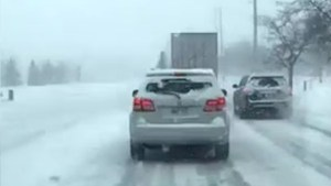 GTA motorists capture conditions on snowy roads, highways