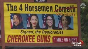 Billboard outside North Carolina gun store takes aim at four Democratic Congresswoman (02:03)