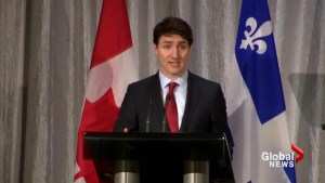 Prime Minister Justin Trudeau in Quebec City