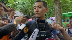 Volunteer diver says water level dropping in Thailand cave where boys are trapped