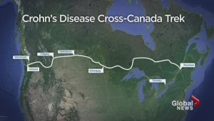 B.C. man crosses country to raise awareness about Crohn's disease