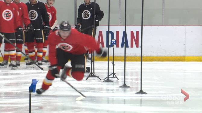 Different paths, same goal for Calgary Flames development camp prospects
