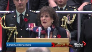 Lt.-Gov. Lois Mitchell speaks about importance of Remembrance Day