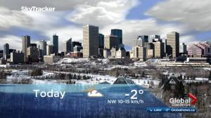 Edmonton early morning weather forecast: Monday, December 4, 2017