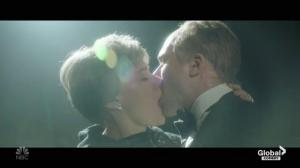 SNL mocks Brexit with Theresa May kissing Winston Churchill in a dream