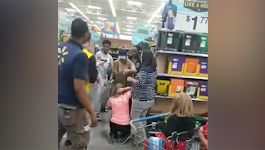 Mom pulls gun during a Walmart 'back to school' scuffle