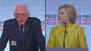 Bernie Sanders, Hillary Clinton square off in debate