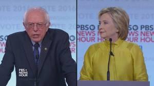 Bernie Sanders, Hillary Clinton square off in debate